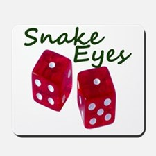 Gambling Snake Eyes Dice Mousepad