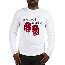 Gambling Snake Eyes Dice Long Sleeve T-Shirt