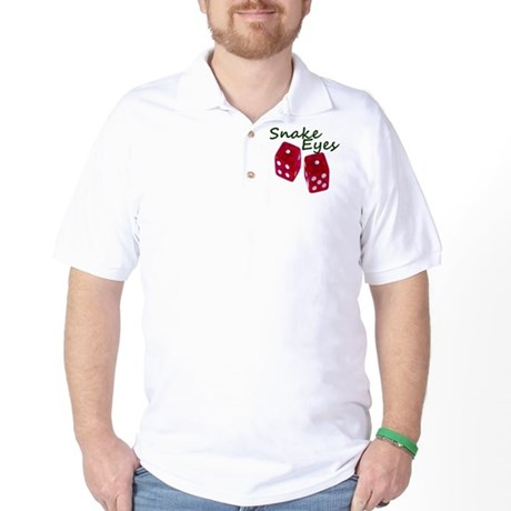 Gambling Snake Eyes Dice Golf Shirt