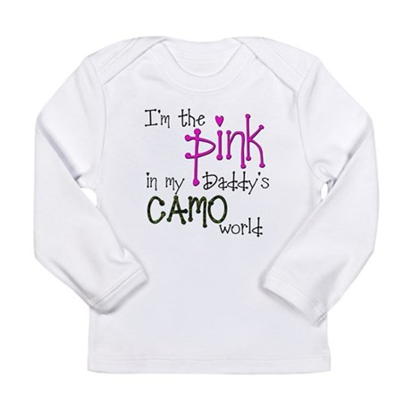 Im the pink in my Daddys camo world copy Long Slee