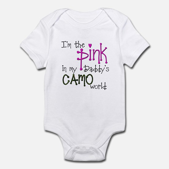 Im the pink in my Daddys camo world copy Body Suit