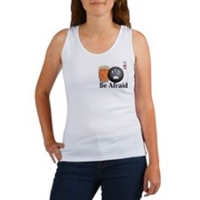 Be Afraid Logo 10 Women's Tank Top Design Front Po