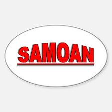 """Samoan"" Oval Decal"