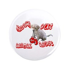 """Knock Out Animal Abuse 3.5"""" Button"""