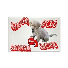 Knock Out Animal Abuse Rectangle Magnet