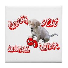 Knock Out Animal Abuse Tile Coaster