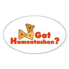 Got Hamentashen Oval Decal