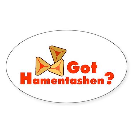Got Hamentashen Oval Sticker