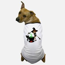 Cauldron Witch Dog T-Shirt