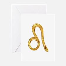 Leo Zodiac Symbol Greeting Cards (Pk of 10)