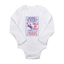 Cowboy riding bronco Long Sleeve Infant Bodysuit