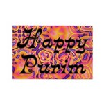 Happy Purim Rectangle Magnet (10 pack)