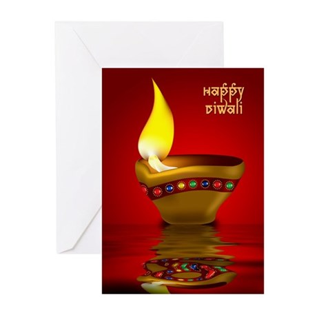 Happy Diwali Greeting Cards (Pk of 10)