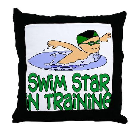 Swim Star in Training Andrew Throw Pillow