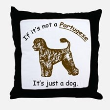 Portugese Water Dog Throw Pillow