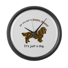 Sussex Spaniel Large Wall Clock