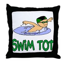 Swim Tot Andrew Throw Pillow