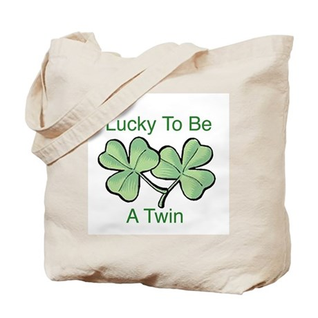 Lucky To Be A Twin Tote Bag