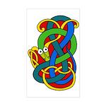 Beannachtaí na Féile Pádraig Sticker (Rectangular