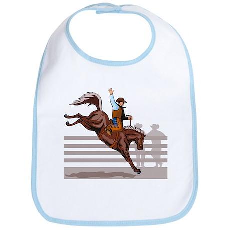 Rodeo Cowboy riding Bib