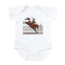 Rodeo Cowboy riding Infant Bodysuit