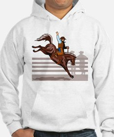 Rodeo Cowboy riding Hoodie