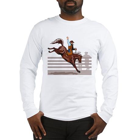 Rodeo Cowboy riding Long Sleeve T-Shirt
