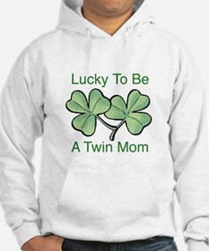 Lucky To Be A Twin Mom Hoodie