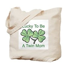 Lucky To Be A Twin Mom Tote Bag