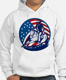 rodeo horse cutting Hoodie