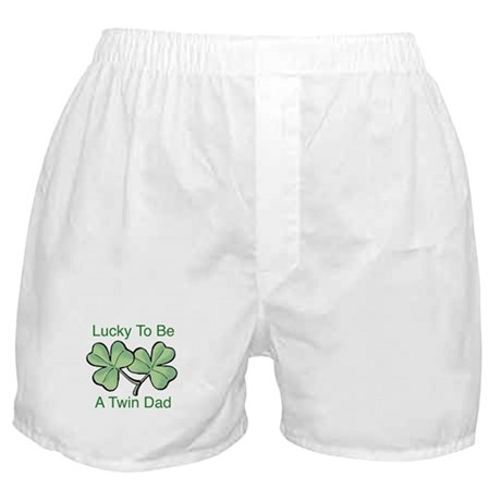 Lucky To Be A Twin Dad Boxer Shorts