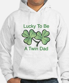 Lucky To Be A Twin Dad Hoodie