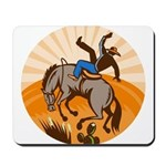 cowboy riding horse Mousepad