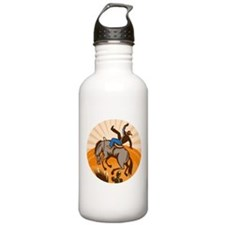 cowboy riding horse Sports Water Bottle