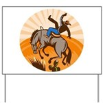 cowboy riding horse Yard Sign
