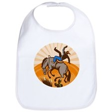 cowboy riding horse Bib