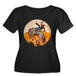 cowboy riding horse Women's Plus Size Scoop Neck D