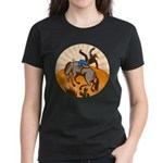 cowboy riding horse Women's Dark T-Shirt