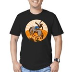 cowboy riding horse Men's Fitted T-Shirt (dark)