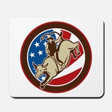 Cowboy bull riding Mousepad