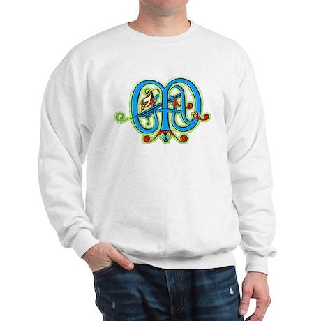 Celtic Ornate Letter M Sweatshirt