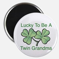 Lucky To Be A Twin Grandma Magnet