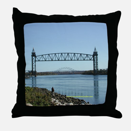Cape Cod Canal Bridges Throw Pillow