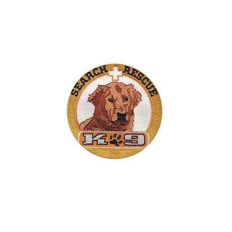 Search and Rescue K9 Mini Button (10 pack)