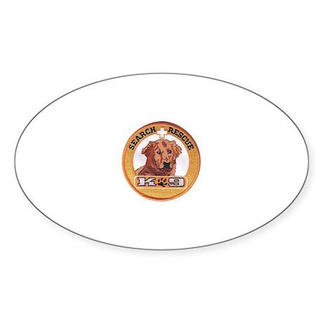 Search and Rescue K9 Oval Sticker