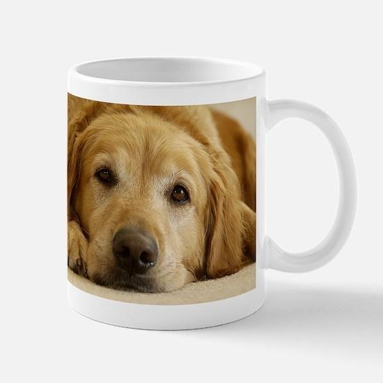 Golden Retriever Mug: Need Morning Coffee!