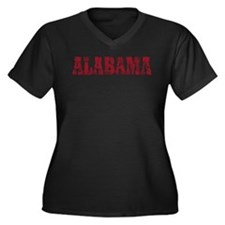 Vintage Alabama Women's Plus Size V-Neck Dark T-Sh