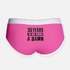 35 years of not giving a damn Women's Boy Brief