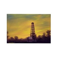'Old Derrick Sunset' Magnet
