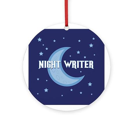 Night Writer Ornament (Round)